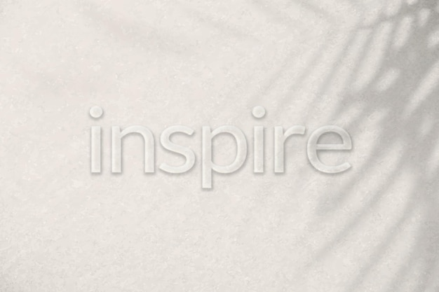 Word inspire embossed typography font