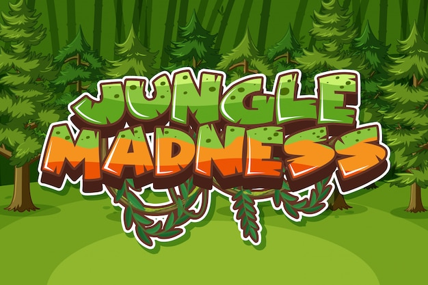 Word for jungle madness with many trees in the forest