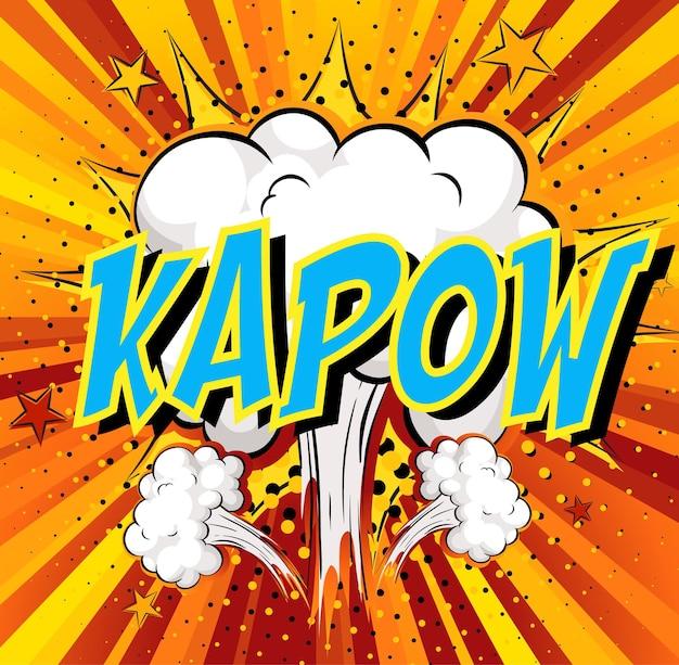 Word kapow on comic cloud