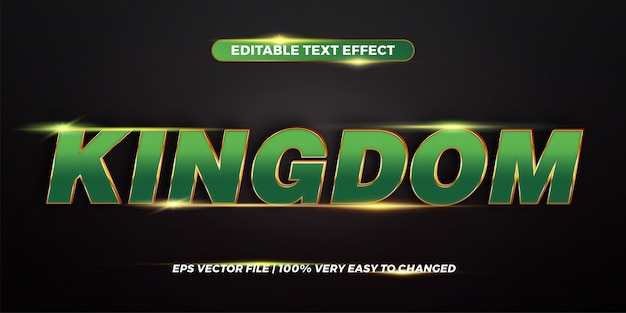Word kingdom - editable text effect style  concept