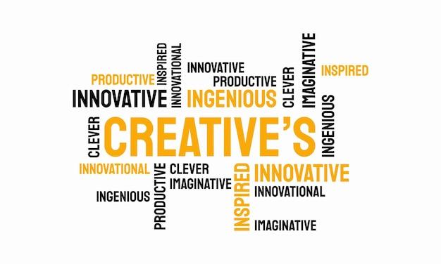 Слово творческой типографии, творческая типография текст слово искусство векторная иллюстрация маркетинга