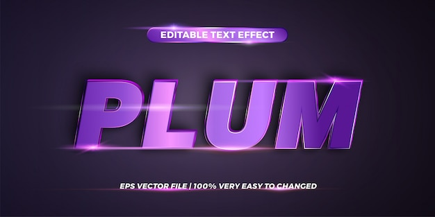 Word plum - editable text effect style