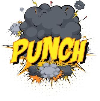 Word punch sulla nuvola di fumetti