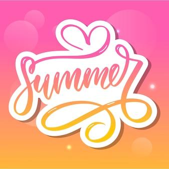 단어 판매. 꽃과 잎으로 만든 편지 여름 세일 휴일 전단지 배너 포스터 여름 판매