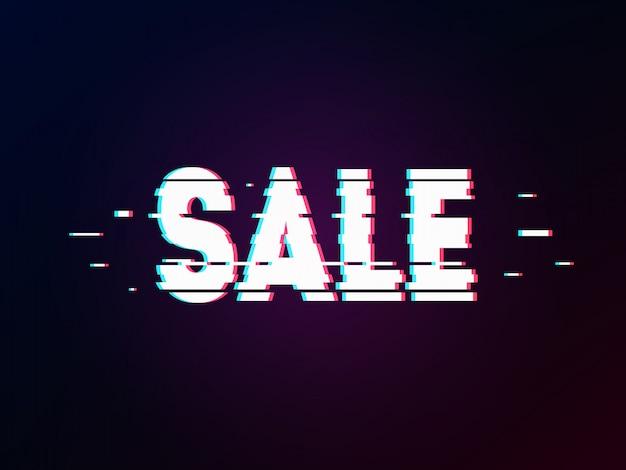 Word sale with glitch effect