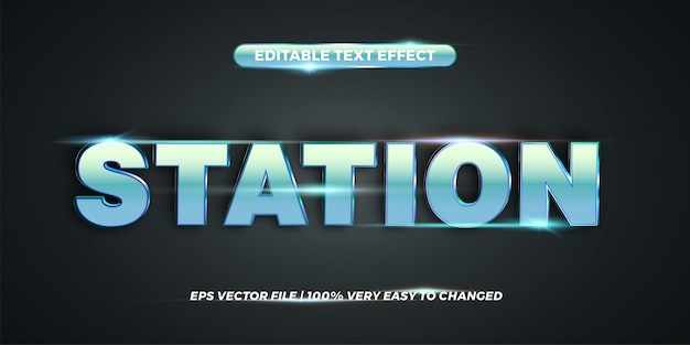 Word station - editable text effect