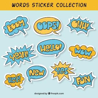 Коллекция стикеров word
