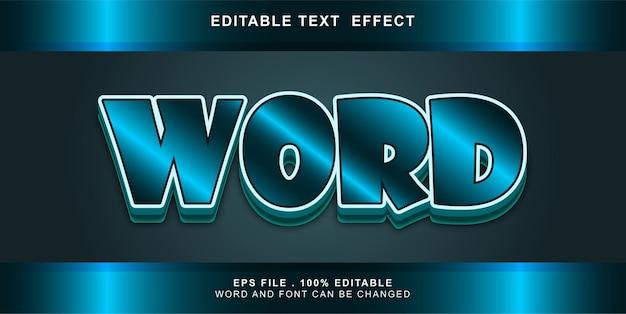 Word  text effect editable