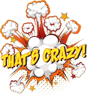 Word that's crazy on comic cloud explosion