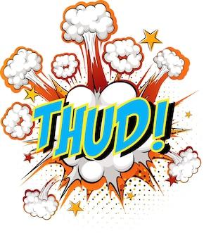 Word thud on comic cloud