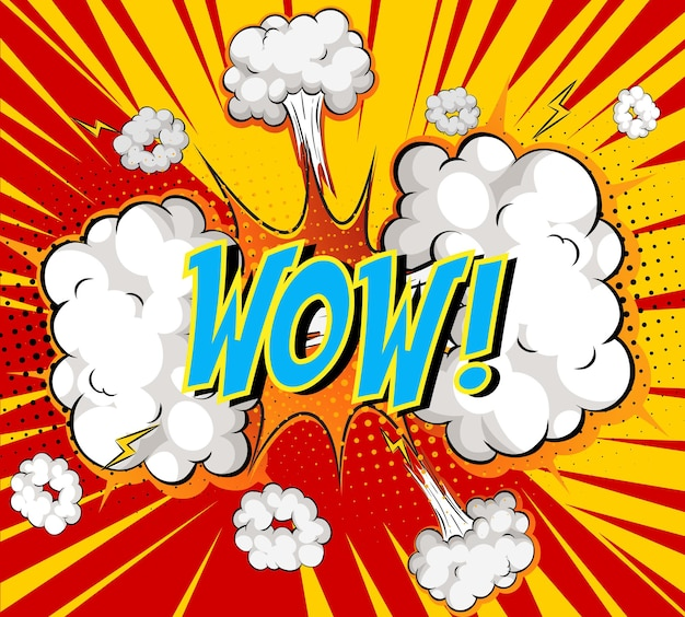 Word wow on comic cloud explosion