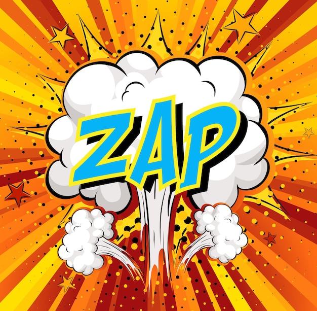 Word zap sulla nuvola di fumetti