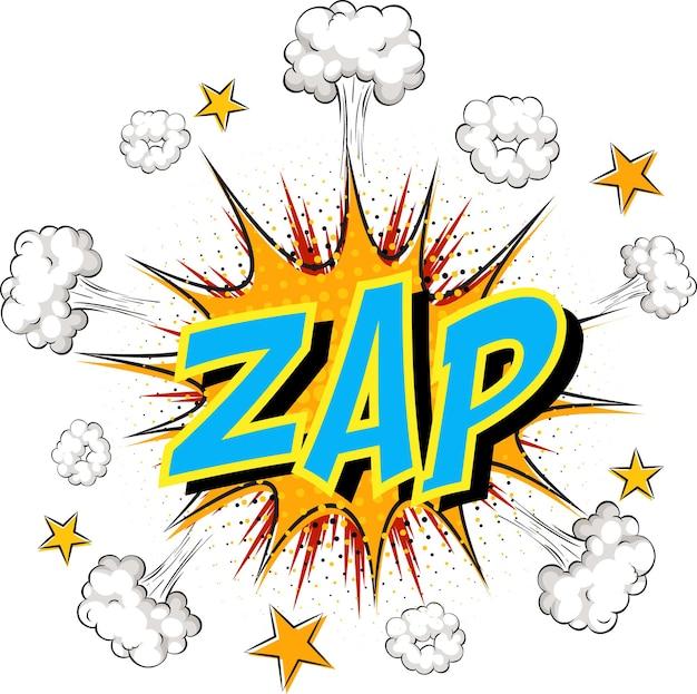 Word zap on comic cloud