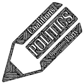 Words cloud of politics