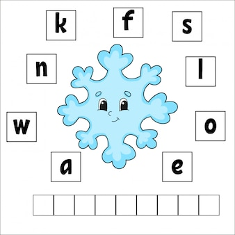 Words puzzle. education developing worksheet. learning game for kids. activity page.