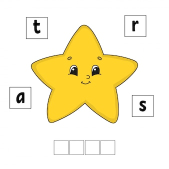 Words puzzle. education developing worksheet. learning game for kids.