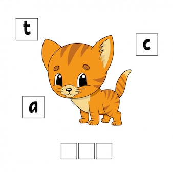 Words puzzle. education developing worksheet