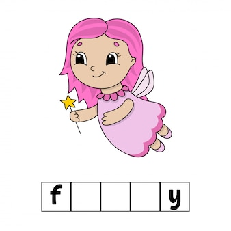 Words puzzle with fairy