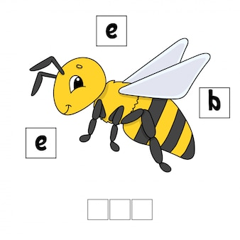 Words puzzle worksheet bee