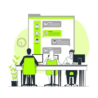 Work chat concept illustration