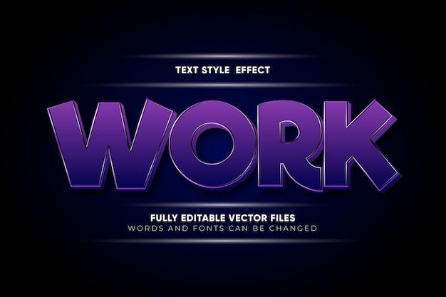 Work editable  text effect