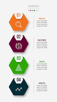 Work flow business infographic template