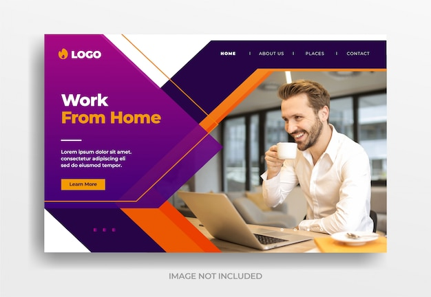 Work from home business banner
