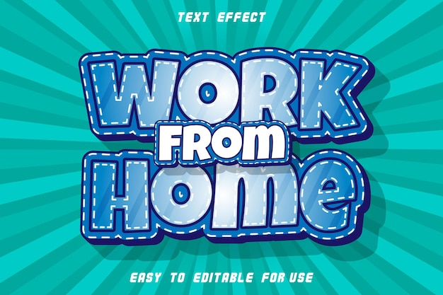 집에서 작업 편집 가능한 텍스트 효과 양각 만화 스타일