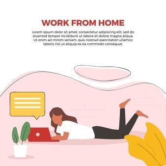 Работа из дома иллюстрации