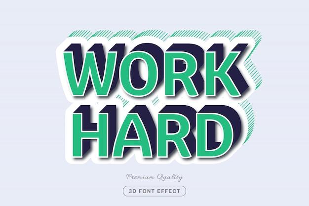 Work hard - easy editable text effect