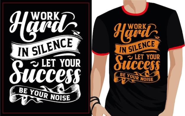 Work hard typography t shirt design