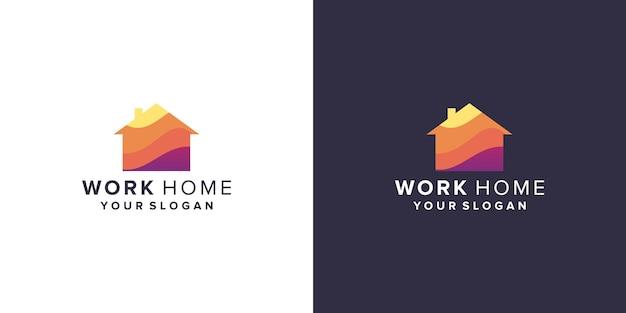 Work home logo design