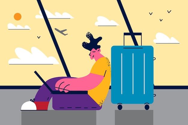 Work online remote and freelance illustration