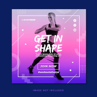Work out banner template