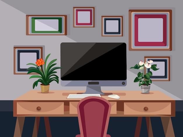 Work place illustration