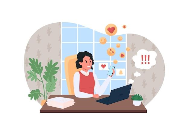 Work procrastination poster illustration