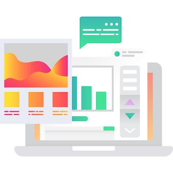Work project task in chart and graph vector icon