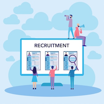 Work recruitment concept