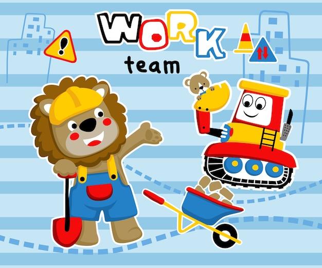 Work team cartoon