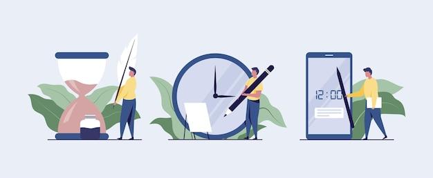 Work on time concept illustration