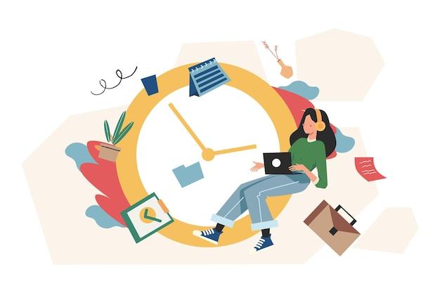 작업 시간 관리, 빠른 응답, 사람들은 작업 문제에 대한 모든 것을 서두르고 시간이 부족합니다.