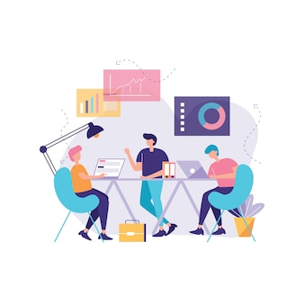 Work together vector