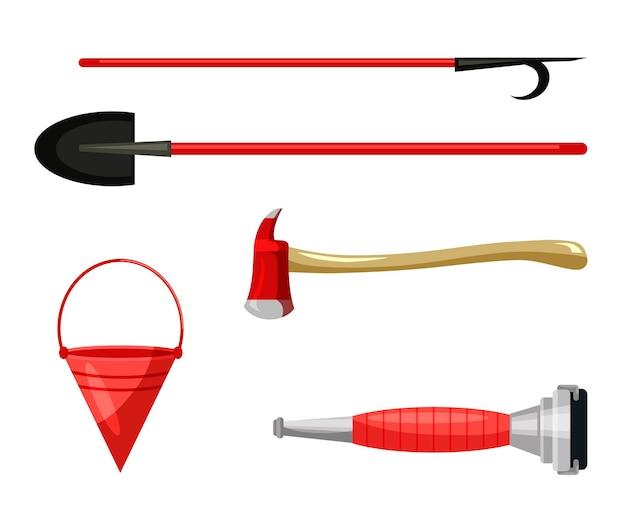 Work tool to free people injured in fire flat set