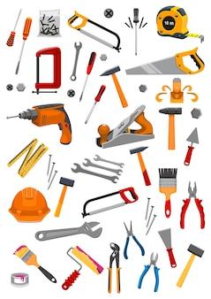 Набор иконок рабочих инструментов