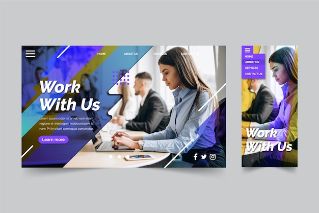 Work with us business landing page