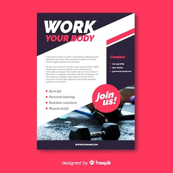 Work your body sport flyer with photo