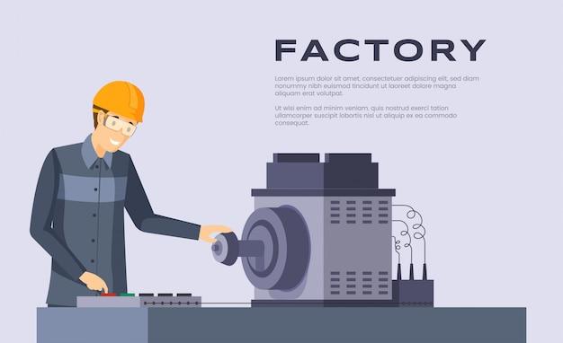 Заводская квартира. workbench оператор работа, занятость и дизайн промышленности плакат.
