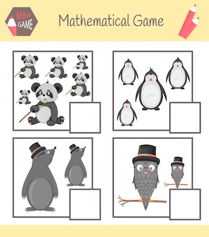 Workbook on mathematics for preschool education. puzzles for children.