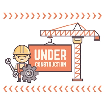 Worker character display message under construction