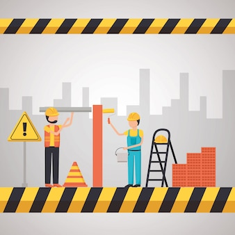 Worker construction equipment